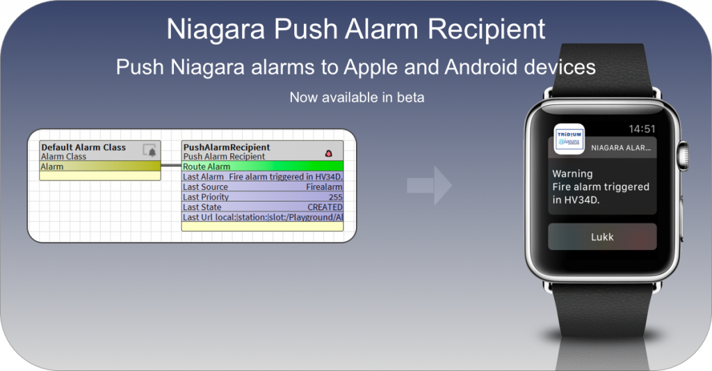 Push Alarms - Send Alarms directly to Apple and Android devices.