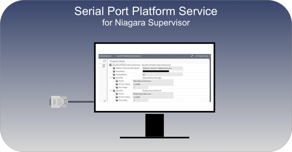 Serial port service for Niagara 4 Supervisor - Serial service for Niagara 4 Supervisor.